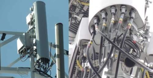 LTE Radio Access Network (RAN) dengan Radio bina dalam