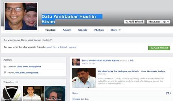 Facebook Datu Amirbahar Hushin Kiram