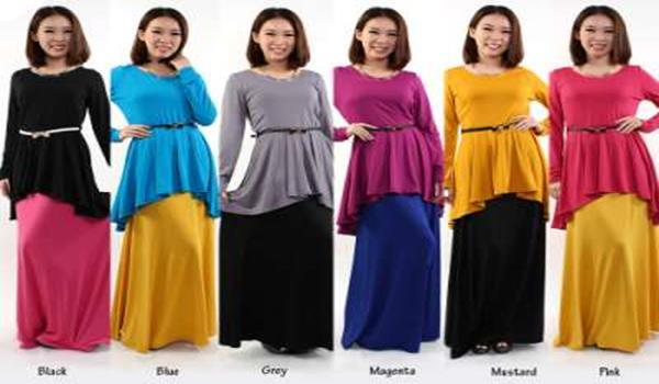 Peplum Pilihan Terkini Baju Raya