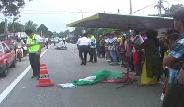 Maut Selepas Motosikal Dilanggar Lori Dekat Kota Bharu