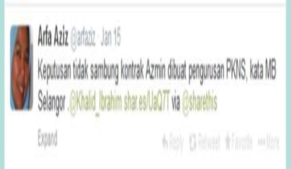 Tweet Arfa Eza: