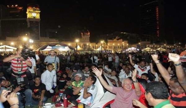 Reaksi Datuk Seri Najib Tun Razak selepas Jerman menjuarai Piala Dunia 2014 menewaskan Argentina 1-0.